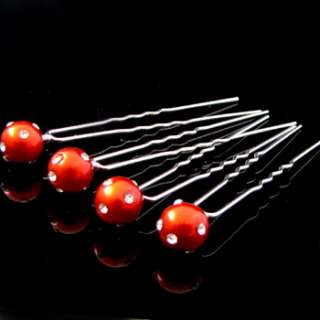 ADDL Item  4 sim pearl rhinestone crystal Hair Pins