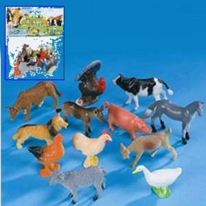 Boy & Girls 11pc Farm Animal Toys Perfect for Party Favors