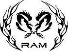 Ram Tribal Flame Circle   Vinyl Sticker Decal items in Falconius