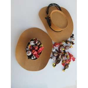 Cowboy Hat Gift Box of 10 Individually Wrapped Turin Chocolate Candies