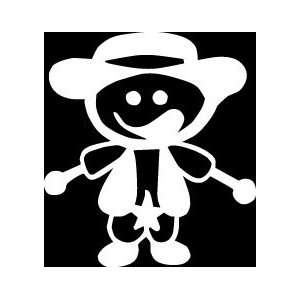 Kid Sheriff Stick Figure Family stick em up White vinyl Die Cut vinyl