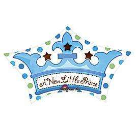 18 A NEW LITTLE PRINCE BABY BOY SHOWER PARTY BALLOON