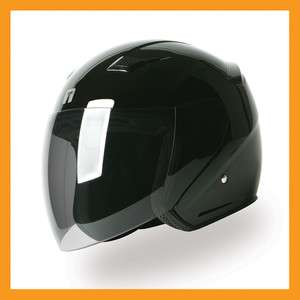 TORC T56 3/4 Open Face Motorcycle Scooter Helmet   Glossy Black XS S M
