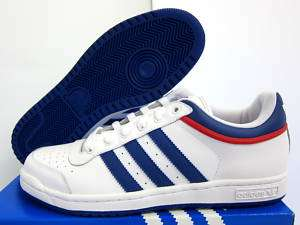 NEW MENS ADIDAS TOP TEN LOW [581051] WHITE/ROYAL/RED