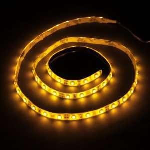 Yellow 1M 60 LED 3528 SMD Flexible Car DIY Strip Light