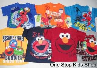 Toddler Boys 2T 3T 4T Short Sleeve SHIRT Tee Top SESAME STREET