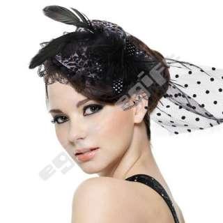 Veil Hair Clip Animal Leopard Prints Mini Top Hat Fascinator