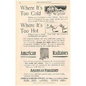 1894 American Radiator Too Cold Hot Stupid People Print Ad