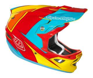 Troy Lee Designs TLD D3 Bicycle Helmet Stinger Yellow Red Medium MD