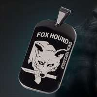Metal Gear Solid Fox Hound Titanium Dog Tag Necklace