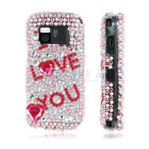 PINK LOVE RHINESTONE CRYSTAL BLING CASE FOR NOKIA N97 Electronics