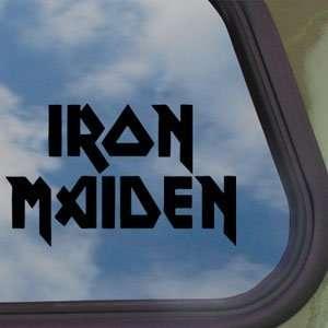 Iron Maiden Black Decal Metal Rock Band Window Sticker