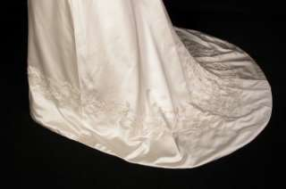 Anne Barge 507 Silk Satin Vneck Beads New Couture Bridal Wedding Dress