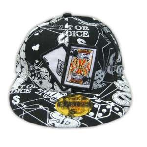 FITTED,FLAT BILL,TEXAS HOLD EM,POKER,CARDS ,HAT,CAP,XL