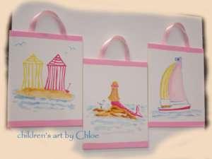 Kids NANTUCKET SURF BEACH SAILBOAT MERMAID Girls Art