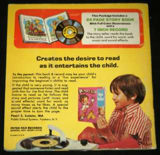JACK AND THE BEANSTALK Illustrated Book & 45 RPM Record Set   Peter