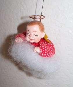 SIMPICH CLOUD BABY ANGEL CHRISTMAS ORNAMENT Punkin