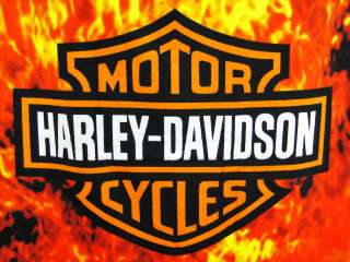 Harley Davidson Bar Shield Flames Beach Towel 60 X 30