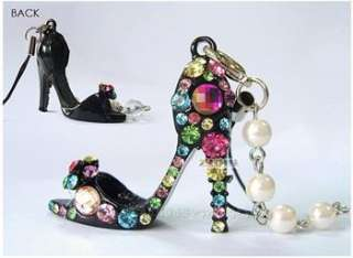 High Heeled shoes Mobile Cell I PHONE CHARMS STRAP white x362
