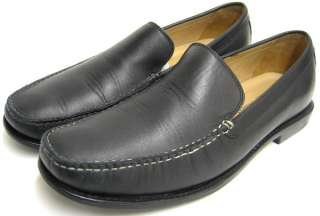 Mens Shoes Johnston Murphy Black Moc Toe Dress Casual Leather Loafers
