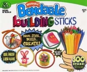 300 Colored Bendable Building Sticks Kids Craft Kit
