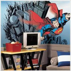 new xl superman wallpaper mural boys bedroom decor dc comics room