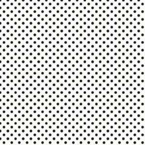 POLKA DOTS PATTERN White and Black Vinyl Decal Sheet 12x36 Sticker