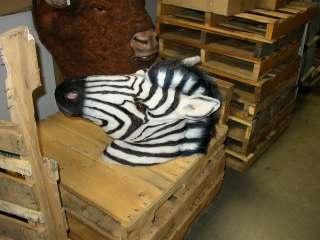 LIFE SIZE Zebra Head Wild Jungle Zoo Animal Safari