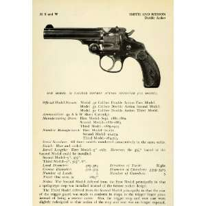 .32 Smith Wesson Caliber Double Action Revolver Third Model Pistol