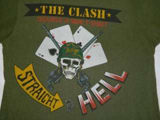 ORIGINAL THE CLASH 1984 VTG TOUR T SHIRT OUT OF CONTROL DOUBLE A SIDE