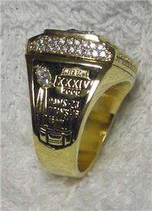 Saint Louis Rams Super Bowl Championship Replica Ring sz 12
