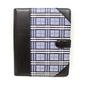 Cuffu   Blue Checker   Premium Leather Case Cover for Apple iPad Wi Fi
