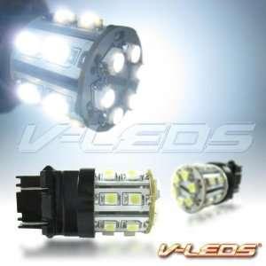 2 WHITE V LEDS 7W HIGH POWER 20 LED BACK UP LIGHT BULBS
