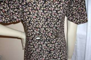 MARNIE WEST Womens Floral Print Dress Medium pre owned