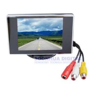 TFT LCD Screen Car Reverse Camera DVD VCR Monitor Silver