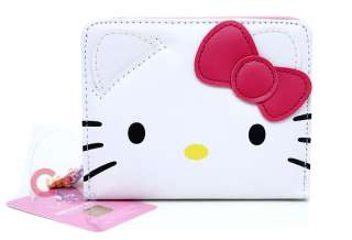 Sanrio Hello Kitty Face Wallet w/Pink Bow Bi Fold
