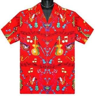 Rock N Roll Retro Guitar Music Saxophone Shirt 3X Big