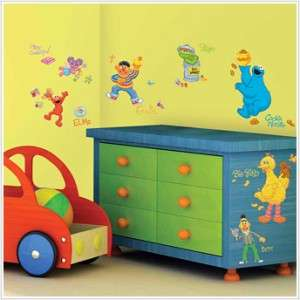STREET WALL DECALS Elmo Big Bird Oscar Stickers Baby Nursery Decor