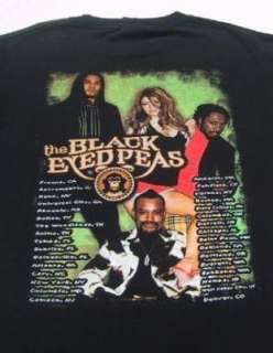 BLACK EYED PEAS u.s. tour LARGE concert T SHIRT
