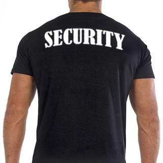 SECURITY T SHIRT event bouncer event staff BLACK NEW
