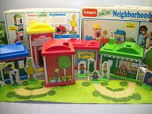 Toy SESAME STREET Muppets Big Bird Neighborhood Play Set #309