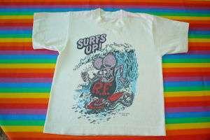RAT FINK VINTAGE TEE SHIRT ED BIG DADDY ROTH SURFS UP