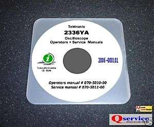 Tektronix TEK 2336YA Service + Operators Manual CD
