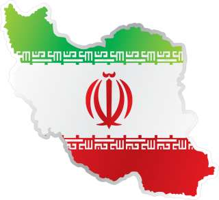 Iran Flag Map Car Bumper Sticker Decal 5X4