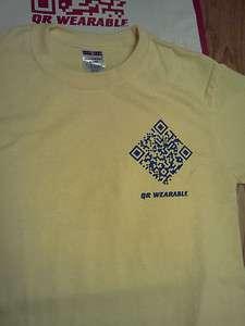 Customized QR (Quick Response Code) T Shirts Tee shirts , Men Women