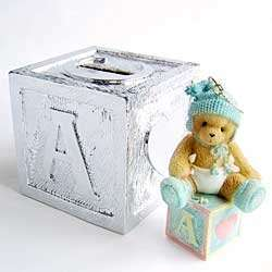 Cherished Teddies 1st Xmas Baby Boy Ornament 118396