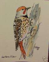 NORTHERN FLICKER BACKYARD BIRD NOTE CARD WATERCOLOR