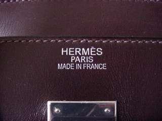 HERMES BIRKIN Bag 32 PONY TROIKA chocolate rare DIVINE