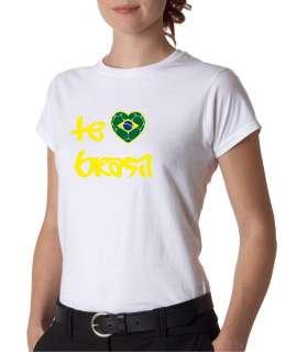 Juniors Te Amo Brazil Football Soccer T Shirt Copa 2011