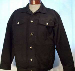 New GODBODY black DENIM JACKET L SIGNATURE DENIM nwot